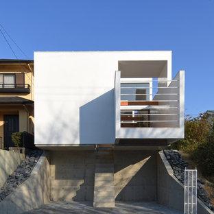 名古屋のコンテンポラリースタイルのおしゃれな家の外観の写真
