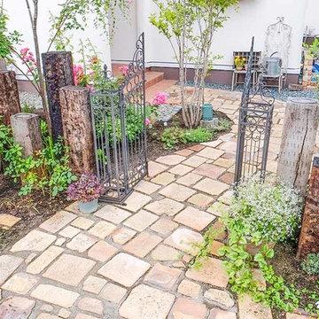 シャビーシックな庭