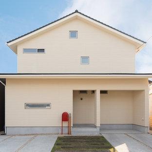 京都のエクレクティックスタイルのおしゃれな家の外観の写真