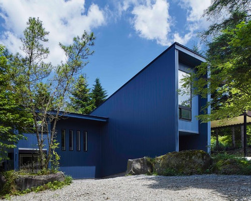 Blaue Häuser blaue moderne häuser ideen design bilder houzz