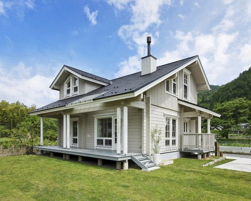 Scandinavian Green Exterior Design Ideas Renovations Photos