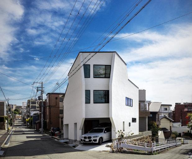 コンテンポラリー 家の外観 by 株式会社seki.design