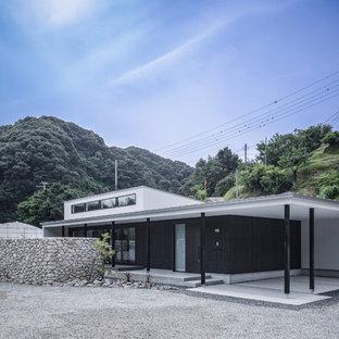 大阪の中くらいのトロピカルスタイルのおしゃれな家の外観の写真