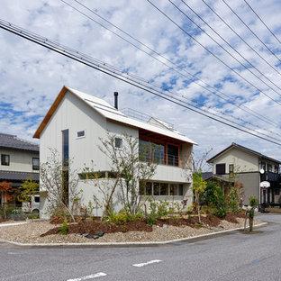 京都のアジアンスタイルのおしゃれな家の外観の写真