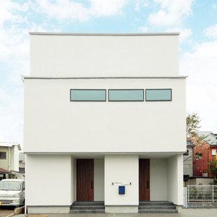 東京23区のモダンスタイルのおしゃれな白い家の写真