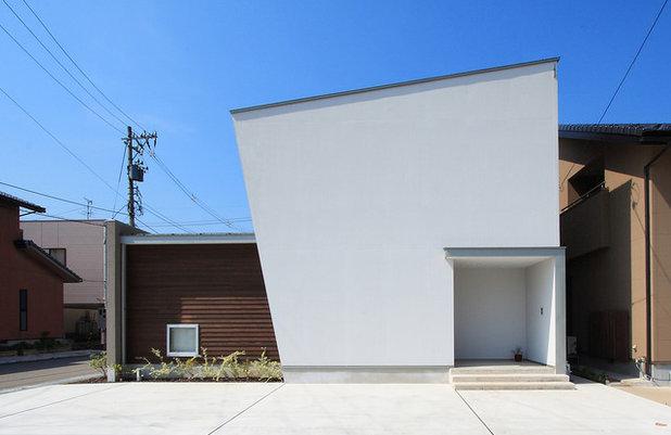 コンテンポラリー 家の外観 by 福田康紀建築計画