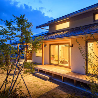 Inspiration for an asian exterior home remodel in Other