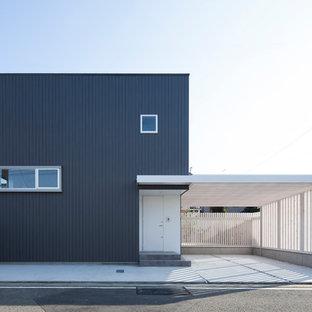 大阪のモダンスタイルのおしゃれな家の外観の写真