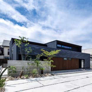 他の地域のミッドセンチュリースタイルのおしゃれな家の外観の写真