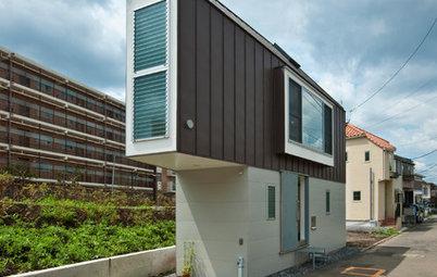 Houzz Япония: Узкий дом в Токио с видом на реку