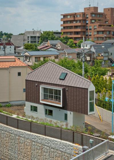 Moderno Fachada by 一級建築士事務所 水石浩太建築設計室