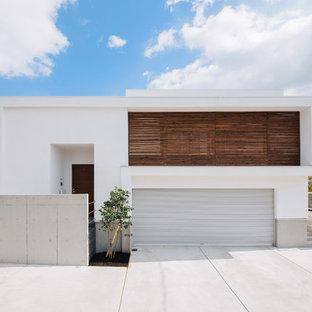 他の地域のモダンスタイルのおしゃれな家の外観 (コンクリートサイディング) の写真