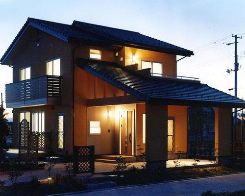 Asiatische Häuser gelbes asiatisches haus ideen design bilder