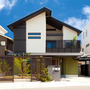 京都の和風のおしゃれな家の外観の写真