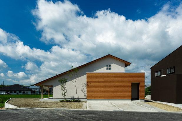 コンテンポラリー エクステリア (外観・外構) by HEARTH ARCHITECTS