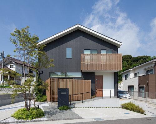 Foto e idee per facciate di case facciata di una casa etnica - Facciata di una casa ...