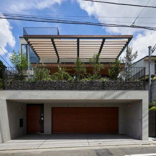 東京23区のコンテンポラリースタイルのおしゃれな家の外観の写真