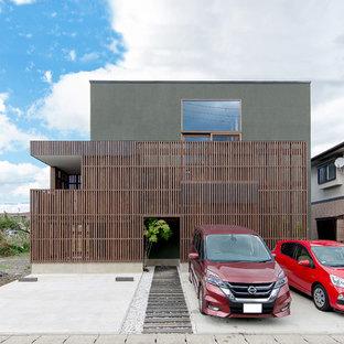 他の地域のモダンスタイルのおしゃれな四角い家の写真