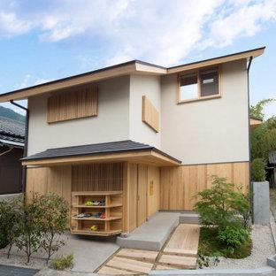 【木造真壁スキップハウス】ファサード北面