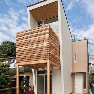 東京23区の北欧スタイルのおしゃれな家の外観の写真