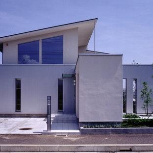 他の地域のモダンスタイルのおしゃれな家の外観 (片流れ屋根) の写真