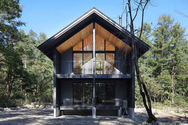 コンテンポラリー 家の外観 by 林建築設計室 │ HAYASHI ARCHITECTS