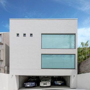 コンテンポラリースタイルのおしゃれな家の外観の写真
