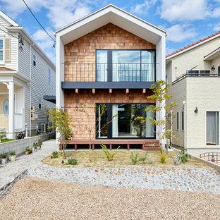 名古屋の北欧スタイルのおしゃれな家の外観の写真