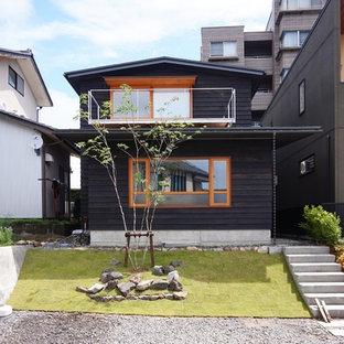 他の地域の北欧スタイルのおしゃれな家の外観の写真