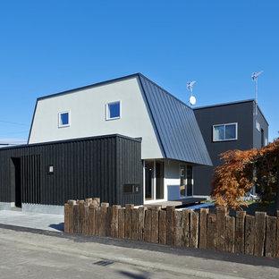札幌のアジアンスタイルのおしゃれな家の外観 (マルチカラーの外壁) の写真
