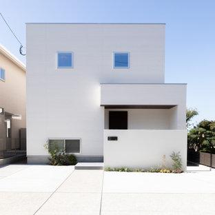 福岡のモダンスタイルのおしゃれな家の外観の写真