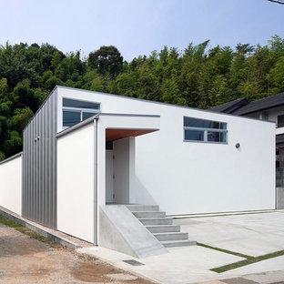 名古屋のコンテンポラリースタイルのおしゃれな家の外観 (長方形) の写真