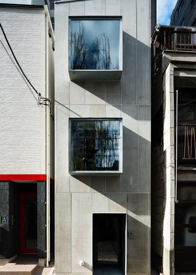モダン 家の外観 by 川久保智康建築設計事務所