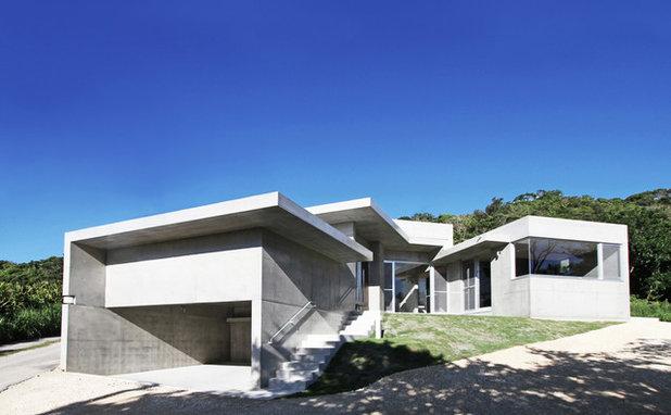 コンテンポラリー 家の外観 by アーキ デザイン ワークス一級建築士事務所