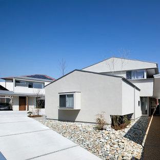 大阪のモダンスタイルのおしゃれな白い家の写真