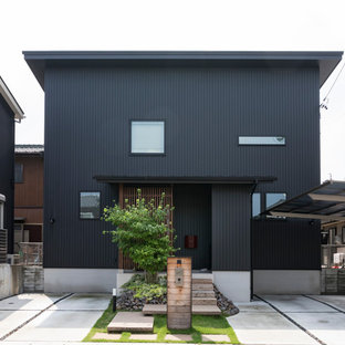 名古屋のモダンスタイルのおしゃれな家の外観の写真