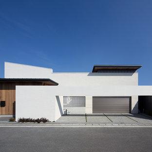 福岡のコンテンポラリースタイルのおしゃれな家の外観の写真