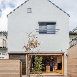 東京23区のモダンスタイルのおしゃれな家の外観の写真