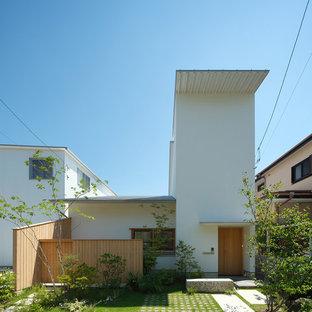 東京23区の小さい北欧スタイルのおしゃれな家の外観の写真