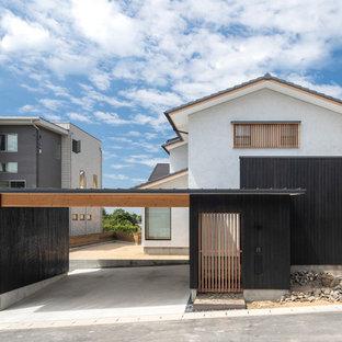 他の地域の和風のおしゃれな白い家の写真