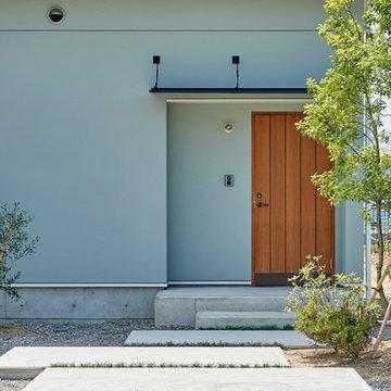 長野市に建つ西海岸平屋新築住宅