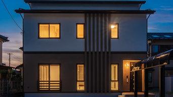 阿賀野市の漆喰の家