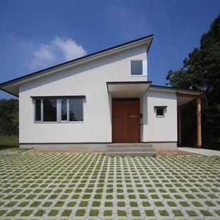 名古屋の和風のおしゃれな家の外観の写真