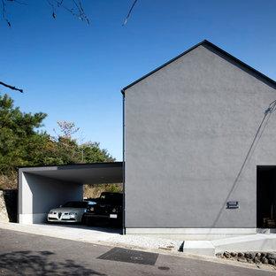神戸の小さいモダンスタイルのおしゃれな家の外観の写真