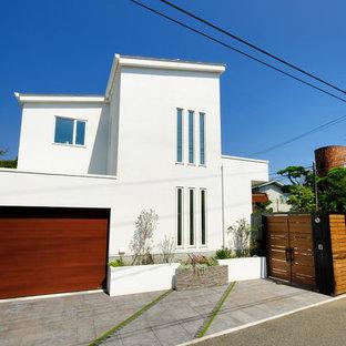 他の地域のビーチスタイルのおしゃれな家の外観の写真