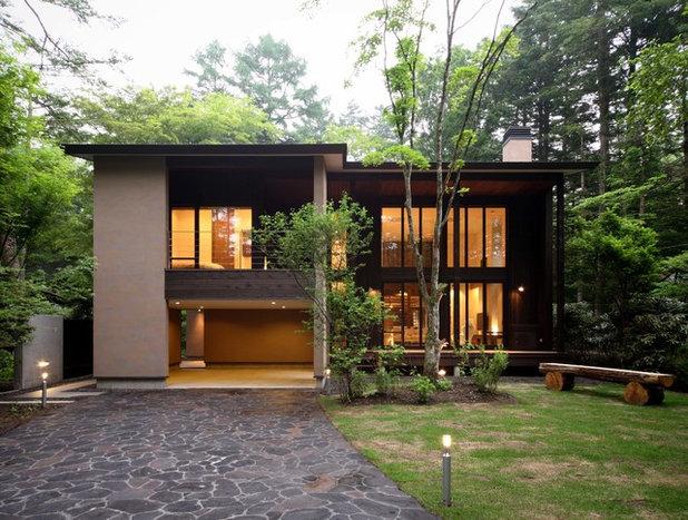 モダン 家の外観 by 菊池ひろ建築設計室|kikuchihiro design office
