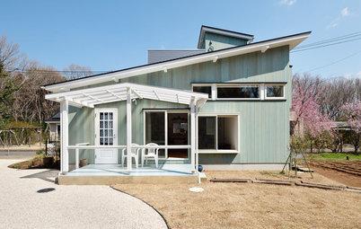 北欧テイストあふれる、菜園付きの居心地よい18坪のセカンドハウス