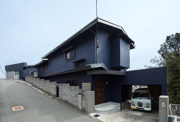 コンテンポラリー 家の外観 by SQOOL一級建築士事務所