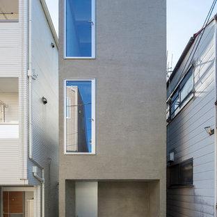 東京23区のインダストリアルスタイルのおしゃれなグレーの家 (長方形) の写真