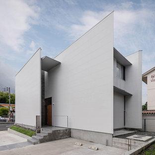 他の地域の北欧スタイルのおしゃれな家の外観 (長方形) の写真